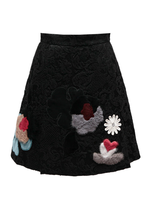 Black Jaccard Skirt