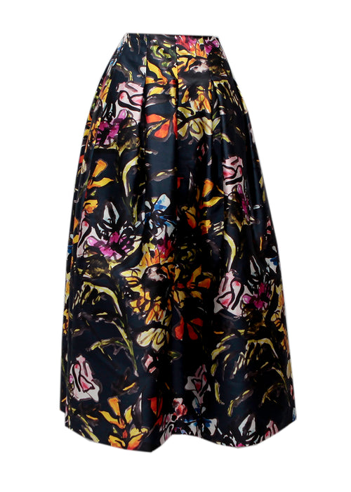 Colored Printed Skirt