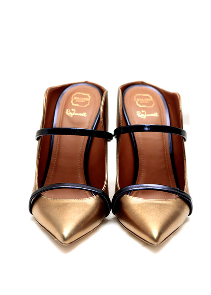 Malone Souliers bronze leather mules