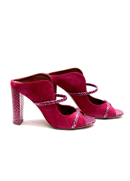 Pink Suede Mules – Luxout Store