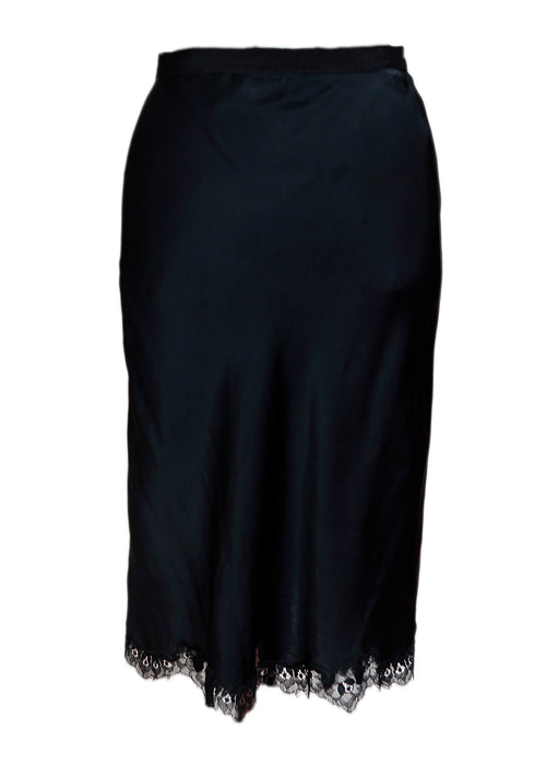 Black Silk Top with Skirt