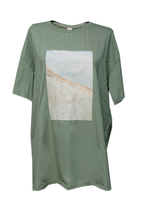 Olive Cotton T-Shirt