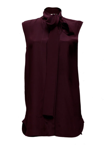 Bordeaux Silk Blouse