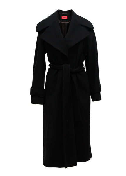 Black oversize wool coat