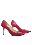 side viwe of Jimmy Choo coral pumps