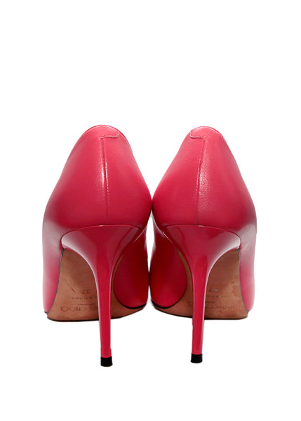back viwe of Jimmy Choo coral pumps