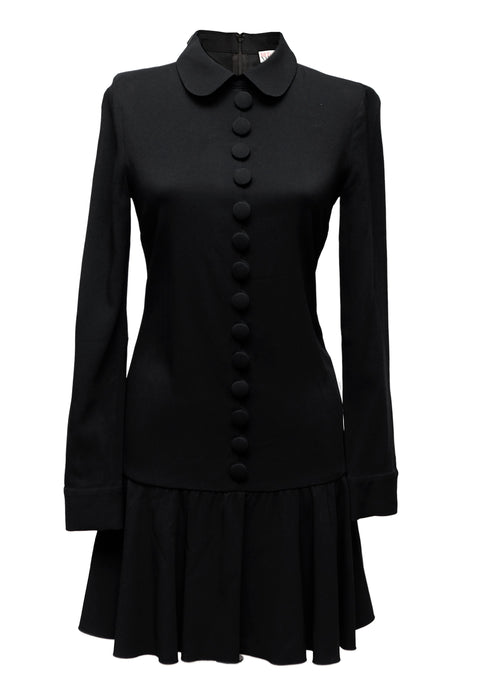Black Round Collar Dress