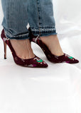 Satin Printed Stilletos