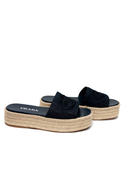 Denim Espadrilles Sandals