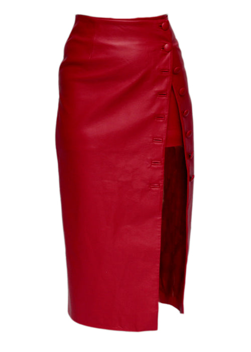 Red Faux Skirt