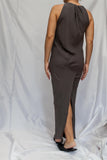 Grey Silk Maxi Dress