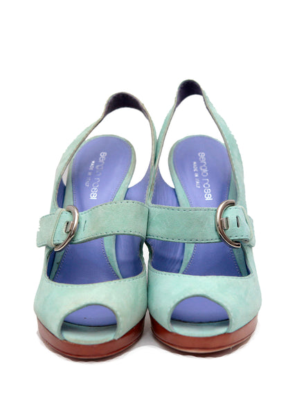 front view Light blue sandals from Sergio Rossi