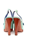 back view Light blue sandals from Sergio Rossi