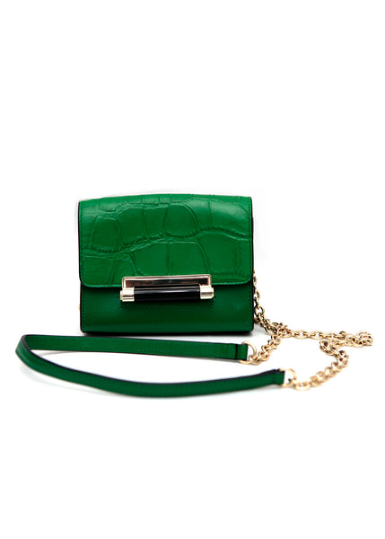 front view leather bag from Diane Von Furstenberg