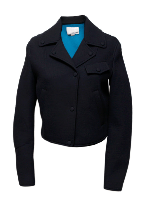 Black Blue Short Jacket