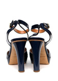 Back view of Luxury RALPH LAUREN Dark Blue Pumps
