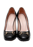 Gucci Black Round Toe Pumps front