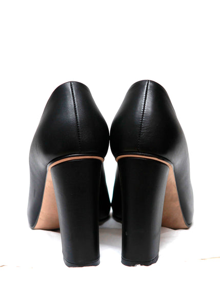 Gucci Black Round Toe Pumps back