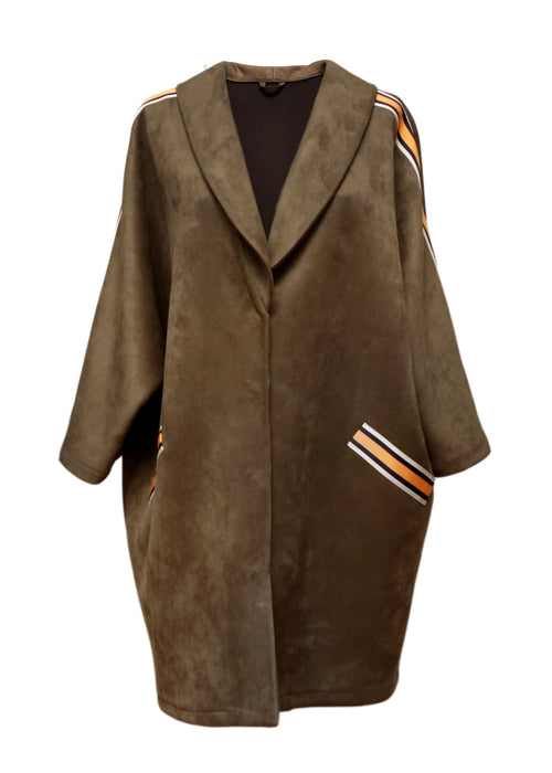 Brown Suede Jacket created by Azerbaijani designer THE SEGMENT