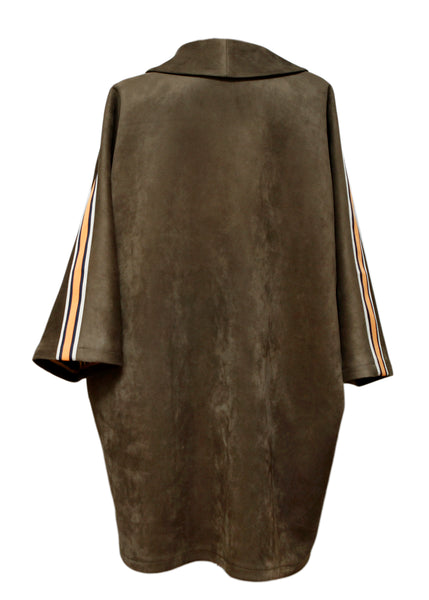 back view of Brown Suede Jacket created by Azerbaijani designer THE SEGMENT