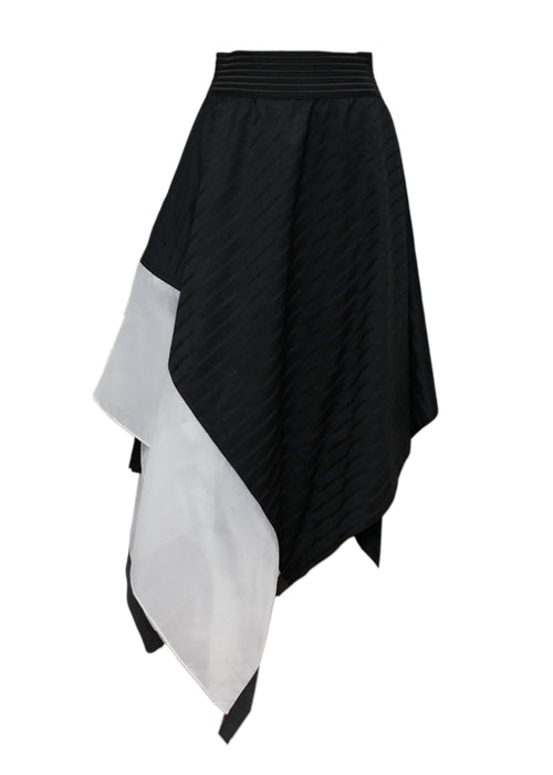 Black Asymmetric Skirt created by Azerbaijani designer THE SEGMENT