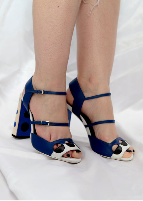 Fendi striped heeled sandals