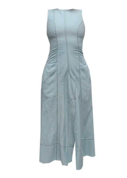 Sportmax linen jeans dress