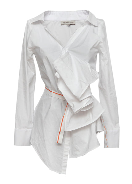 Andres Otalora white cotton shirt
