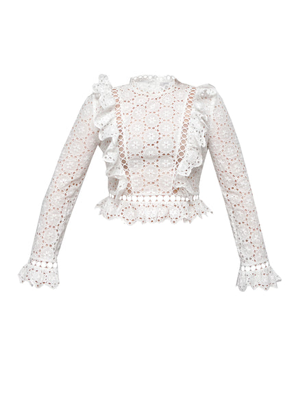 Zimmermann white crop top