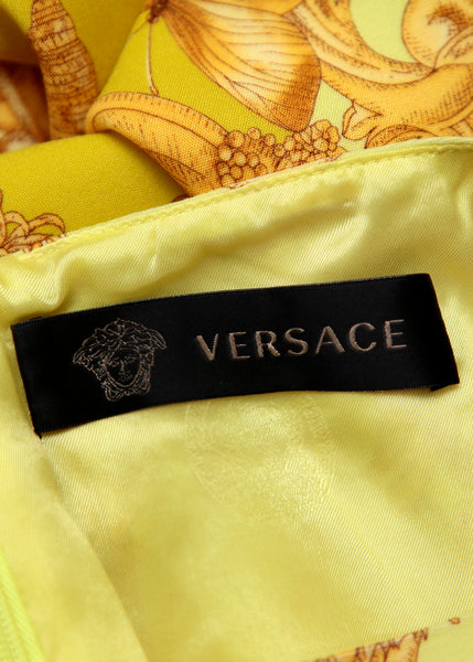 Versace silk dress with prints