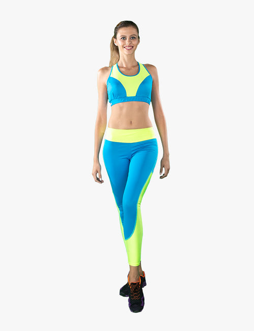 Blue and Yellow Neon Top Bra created by Azerbaijan designer