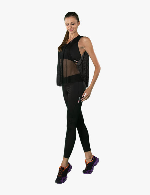 Black Sheer Tank Top by Azerbaijani designer MESHQUE