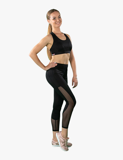 Black and Sheer Leggings by Azerbaijani designer MESHQUE