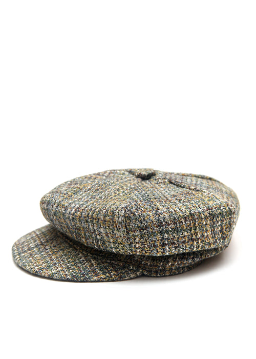 Grey Boucle Cap created by Azerbaijan fashion designer