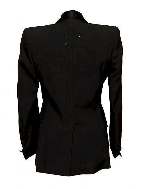 Back view of Luxury MAISON MARTIN MARGIELA Black Jacket