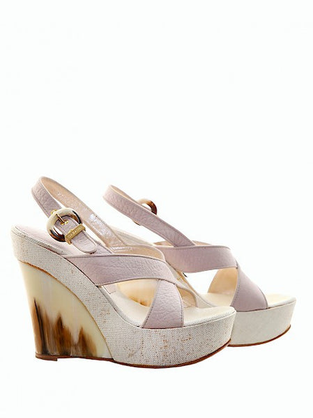 Luxury CASADEI Pale Pink Wedges