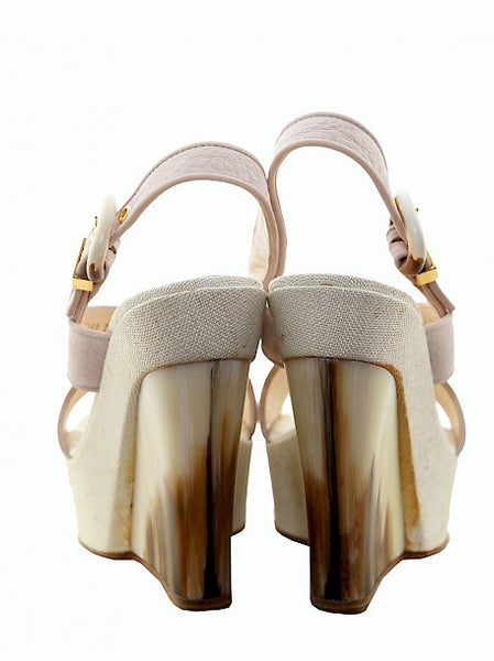 Back view of Luxury CASADEI Pale Pink Wedges