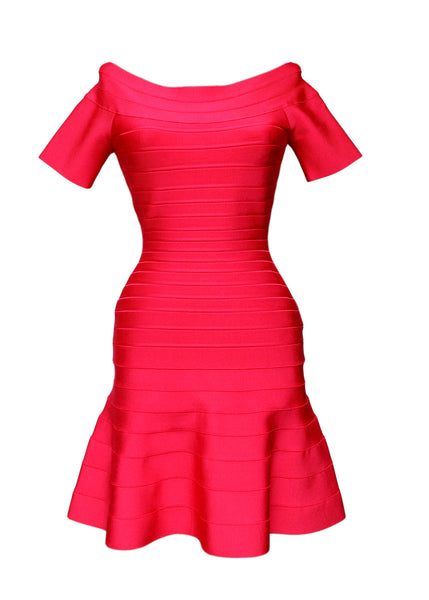 Luxury HERVE LEGER Red Dress