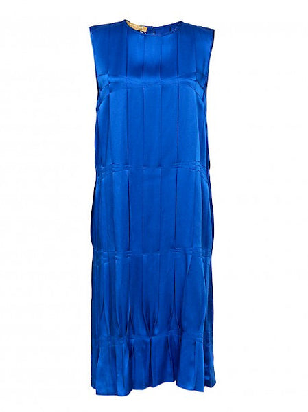 Luxury MICHAEL KORS Blue Silk Dress