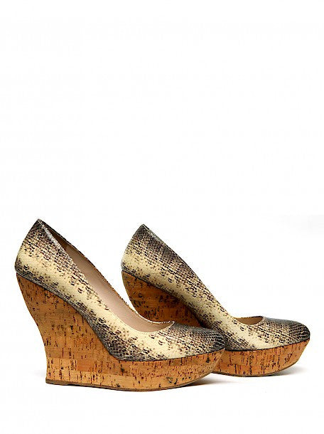 Pre owned MIU-MIU Snake Leather Wedges