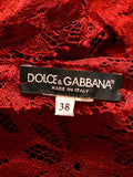 logo on Luxury DOLCE & GABBANA Bordeaux Midi Dress