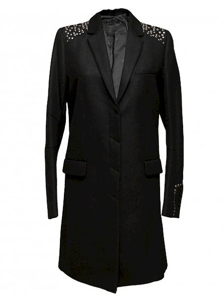 Black coat with Rivets
