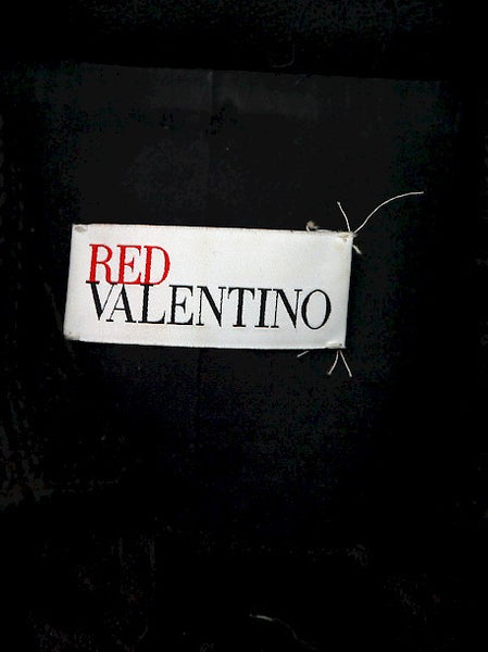 Logo on pre owned RED VALENTINO Black Woolen Coat