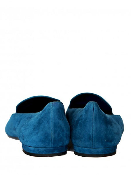Backview Luxury LOUIS VUITTON Blue Moccassins