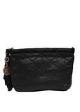 Luxury LANVIN Black Leather Clutch