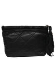 back view of Luxury LANVIN Black Leather Clutch