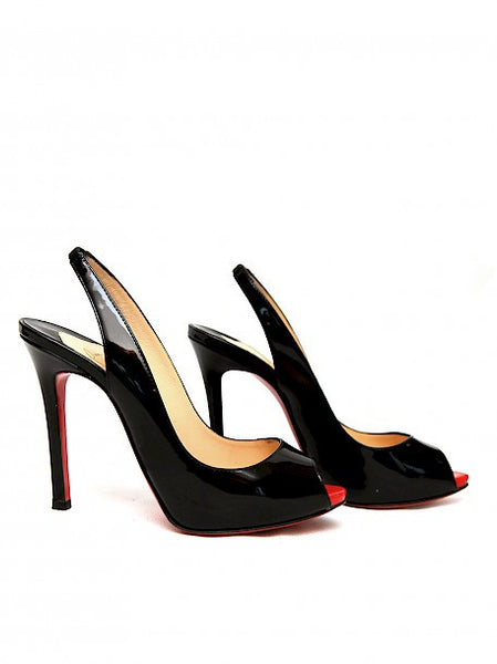Pre owned CHRISTIAN LOUBOUTIN Black Open Toe Sandals