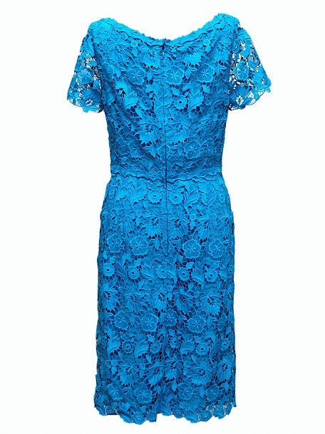 Luxury ESCADA Blue Dress with Neckline