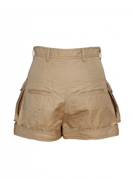 Luxury BALMAIN Beige Shorts