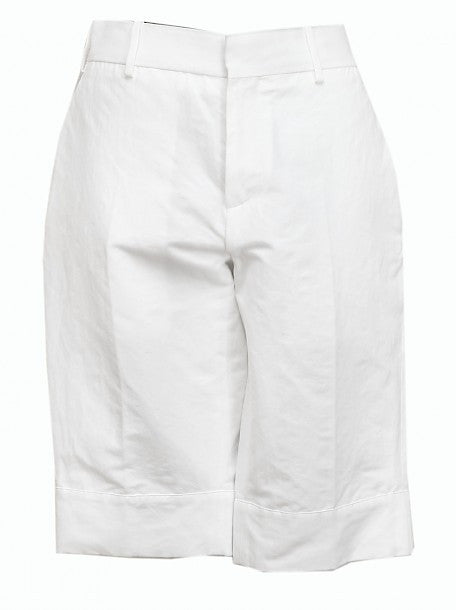Luxury Marni White Cotton Shorts